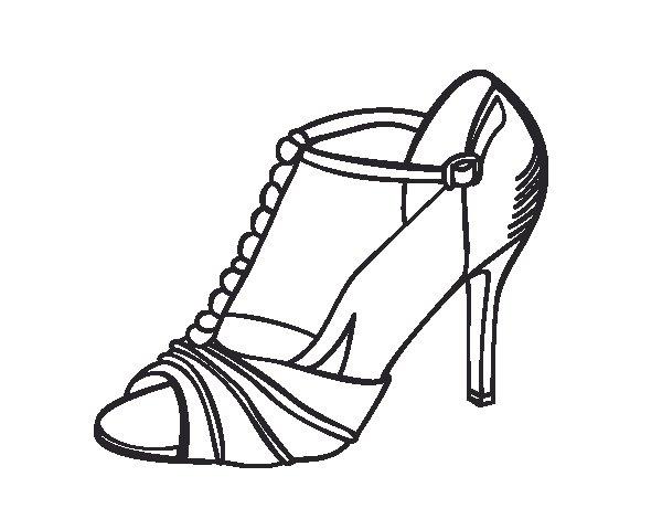 Dibujo de Zapato de fiesta para Colorear  Dibujosnet