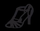 Dibujo de Zapato de fiesta