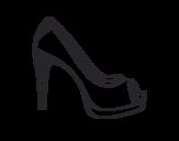 Dibujo de Zapato de plataforma