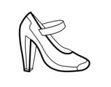 Dibujo de Zapato de salón para colorear