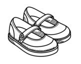 Dibujo de Zapatos de niña para colorear