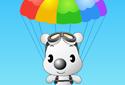 Perrito en paracaídas