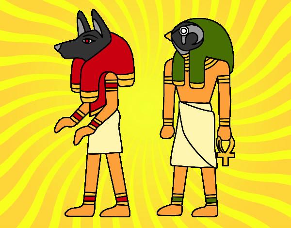 Dibujos De Dioses Egipcios Para Colorear Dibujosnet