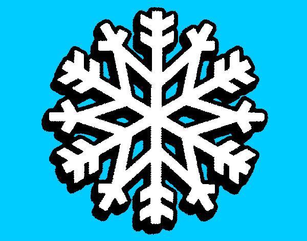 Dibujos De Copos De Nieve Para Colorear Dibujosnet