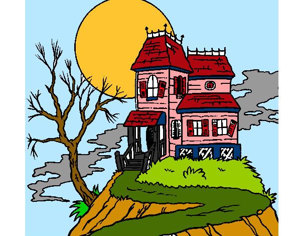Dibujos De Casas Encantadas Para Colorear Dibujosnet