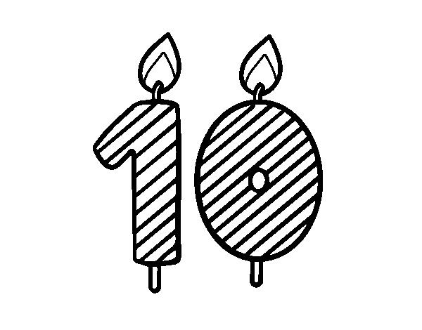 Dibujo de 10 años para Colorear - Dibujos.net