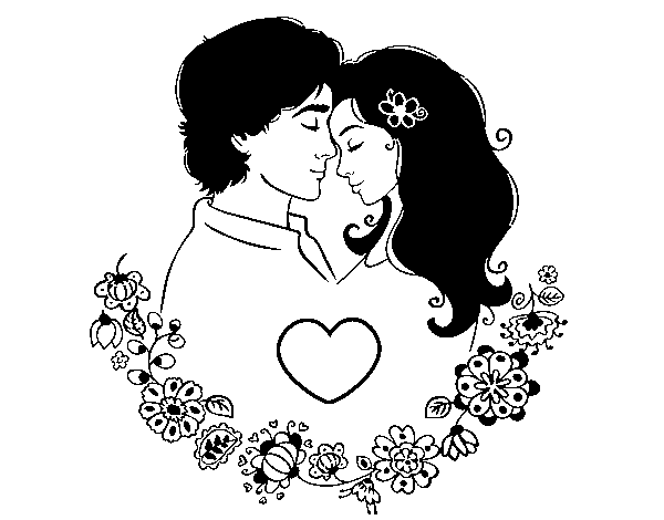 dibujo de amor perfecto para colorear dibujos net