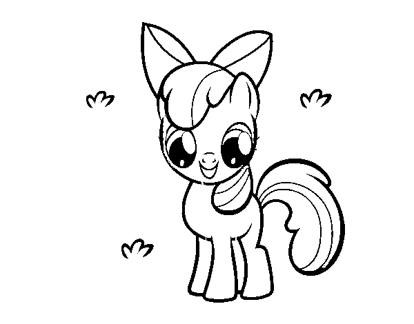 Dibujo de Apple Bloom para Colorear - Dibujos.net