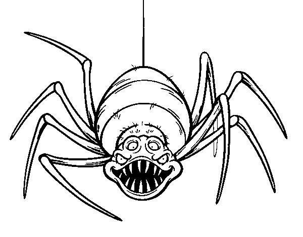 Dibujo De Araña Espeluznante Para Colorear Dibujosnet