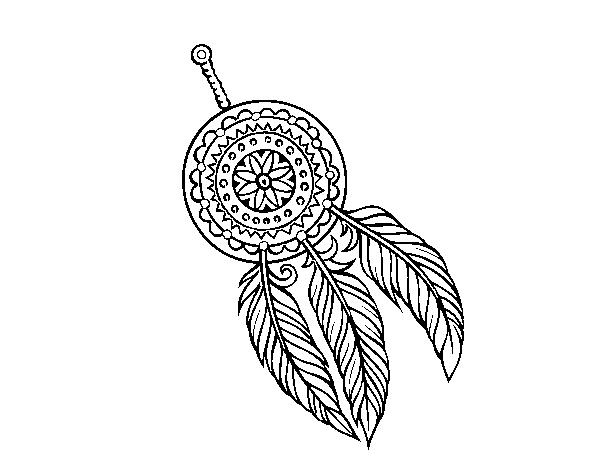 Dibujo de Atrapasueños indio para Colorear - Dibujos.net