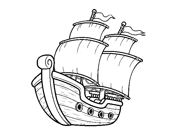 Dibujo De Barco De Vela Para Colorear Dibujos Net