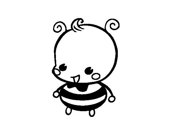 Dibujo de Bebé abeja para Colorear - Dibujos.net