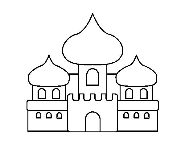 Dibujo de Castillo árabe para Colorear - Dibujos.net