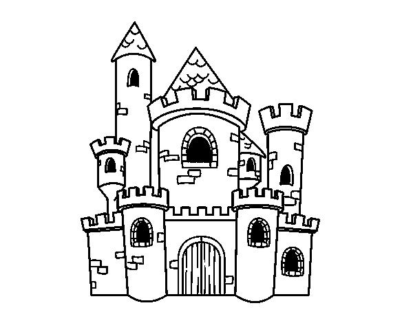 Dibujo de Castillo de cuento para Colorear - Dibujos.net