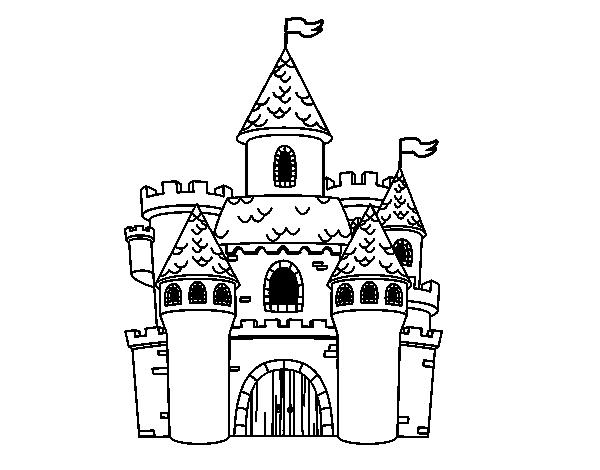Dibujo de Castillo de fantasía para Colorear - Dibujos.net