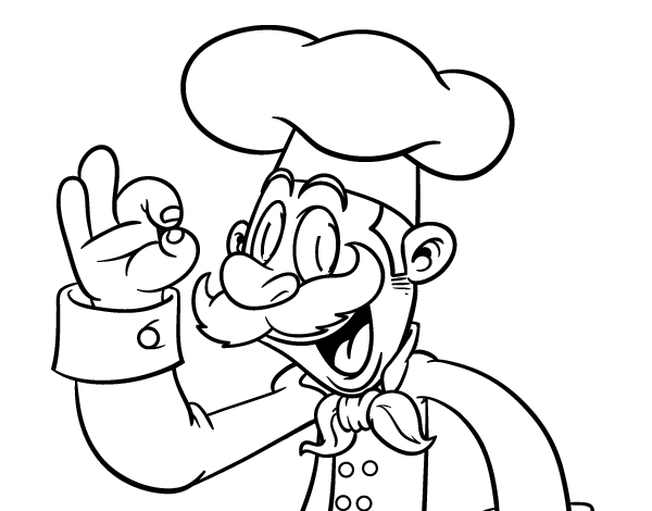 Dibujo de Chef para Colorear - Dibujos.net