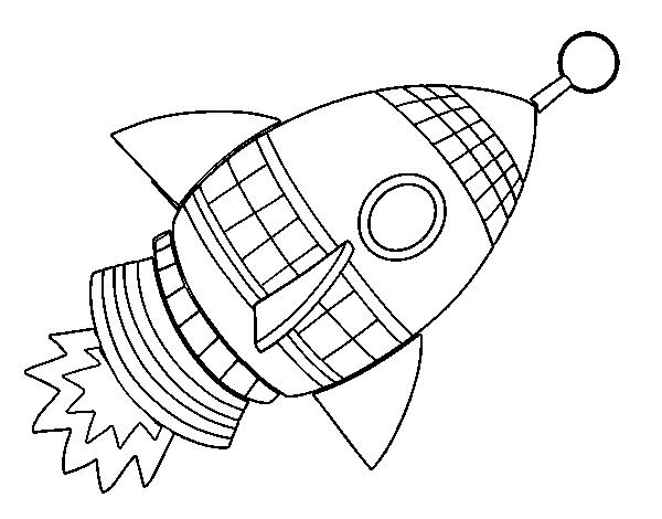 Dibujo de Cohete espacial para Colorear - Dibujos.net