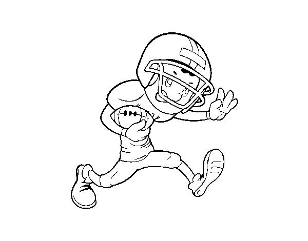 Dibujo de Delantero de rugby para Colorear   Dibujos.net