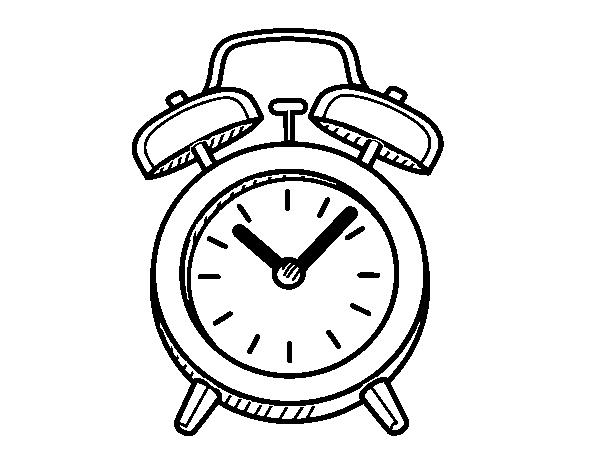 Dibujo de Despertador antiguo para Colorear - Dibujos.net