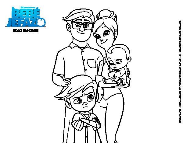 Dibujos De Familia Para Colorear E Imprimir: Dibujo De El Bebé Jefazo, Familia Templeton Para Colorear