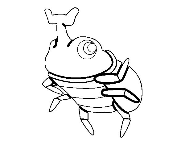 Dibujo de Escarabajo rinoceronte para Colorear - Dibujos.net