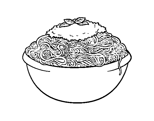 Dibujo De Espaguetis Para Colorear Dibujosnet