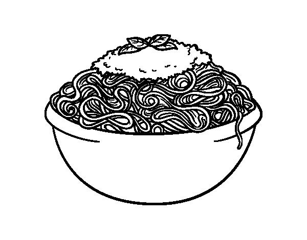 Dibujo de Espaguetis para Colorear - Dibujos.net