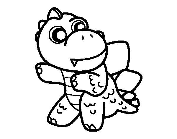 Dibujo de Estegosaurio para Colorear - Dibujos.net