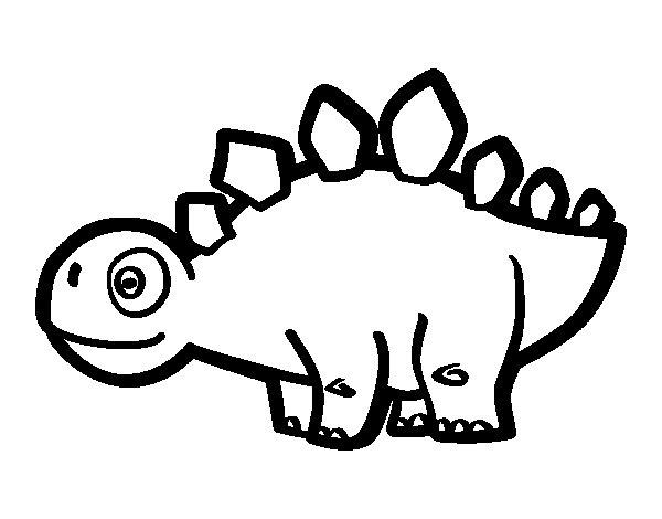 Dibujo de Estegosaurio joven para Colorear - Dibujos.net