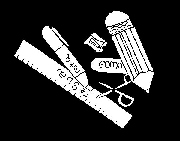 Dibujo de Estuche escolar para Colorear - Dibujos.net