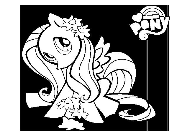 Dibujo de Fluttershy para Colorear - Dibujos.net