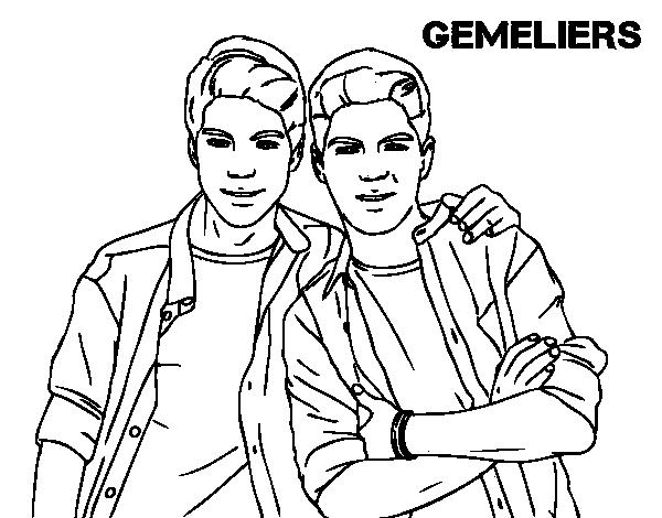Dibujo de Gemeliers para Colorear   Dibujos.net