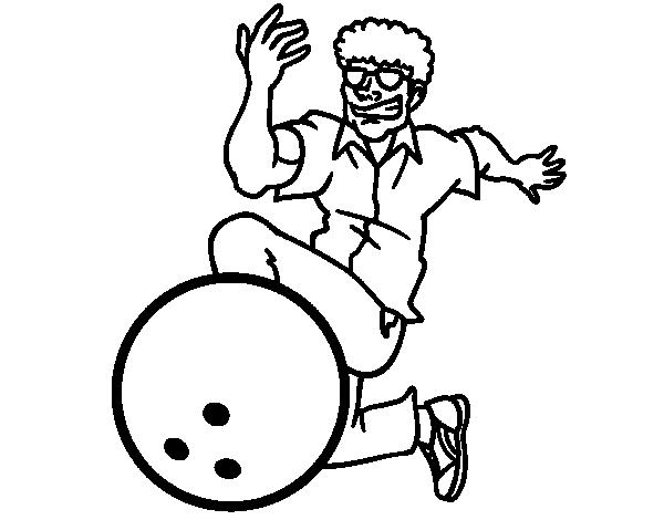 Dibujo de Hombre jugando a los bolos para Colorear - Dibujos.net