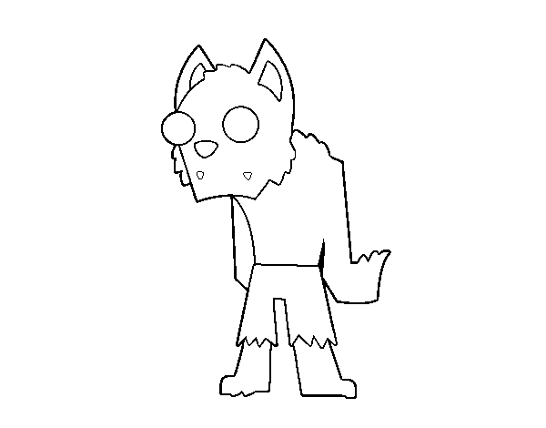 Dibujo De Hombre Lobo Para Colorear: Dibujo De Hombre Lobo