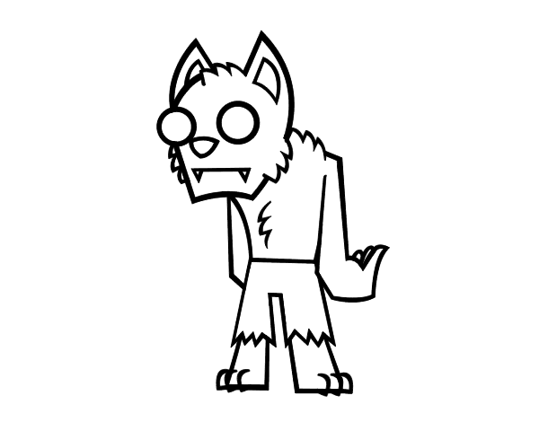 Dibujo de Hombre lobo - zombie para Colorear - Dibujos.net