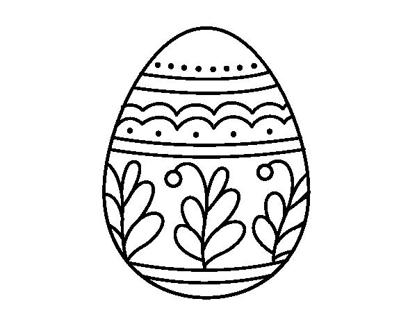 Dibujo de Huevo de Pascua mandala para Colorear - Dibujos.net