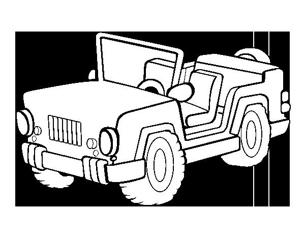 Lujo Safari Jeep Para Colorear Ilustración - Páginas Para Colorear ...