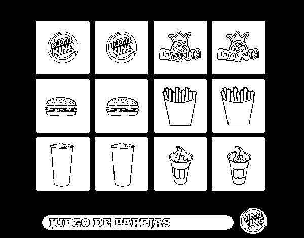 Dibujo De Juego De Parejas Para Colorear Dibujosnet