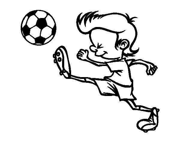 Dibujo De Jugador Chutando Para Colorear Dibujosnet