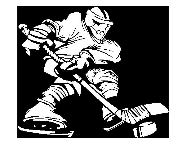 Dibujo de Jugador de hockey profesional para Colorear - Dibujos.net