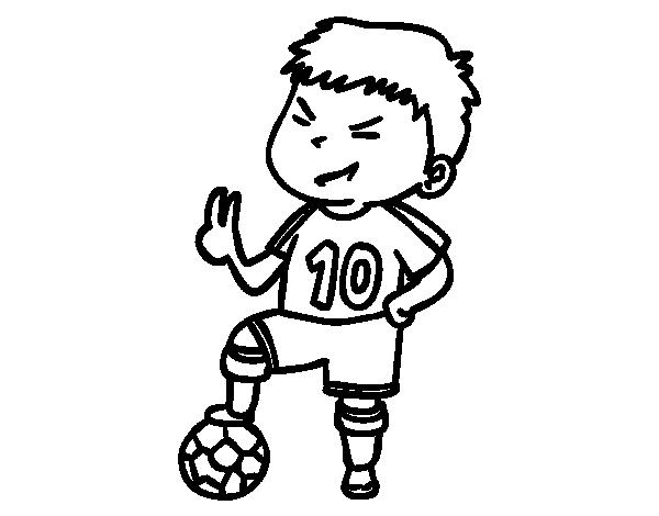Dibujo De Jugador Número 10 Para Colorear Dibujosnet