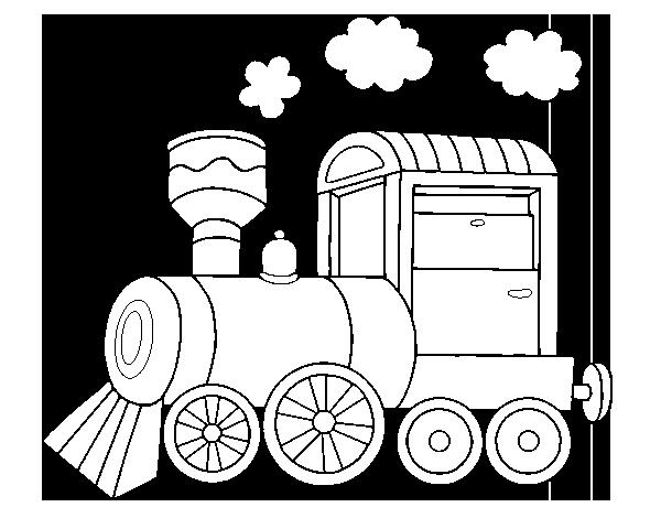 Dibujo de Locomotora de vapor para Colorear - Dibujos.net