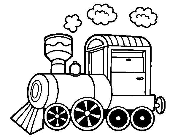 Dibujo De Locomotora De Vapor Para Colorear Dibujosnet