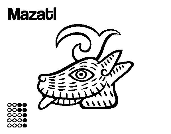Dibujo de Los días aztecas: el ciervo Mazatl para Colorear - Dibujos.net