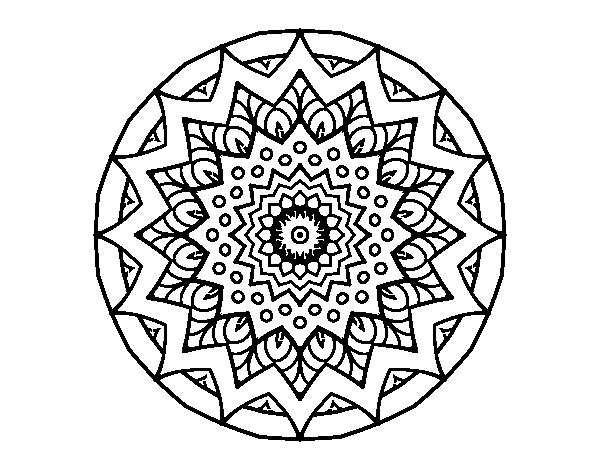 Dibujo De Mandala Creciente Para Colorear Dibujosnet - Mandalas-sin-pintar