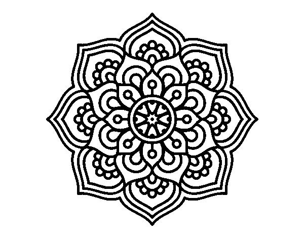 Dibujo De Mandala Flor De La Concentracion Para Colorear Dibujos Net