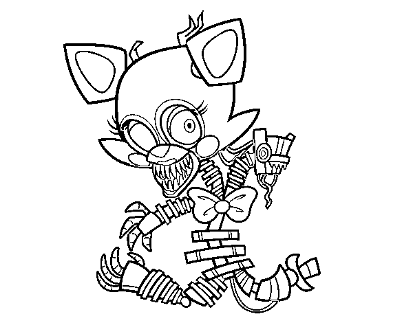 Dibujo de Mangle de Five Nights at Freddy's para Colorear