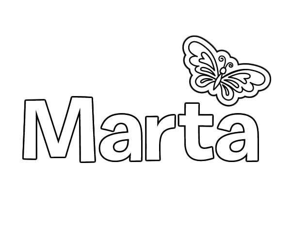 Dibujo de Marta para Colorear - Dibujos.net