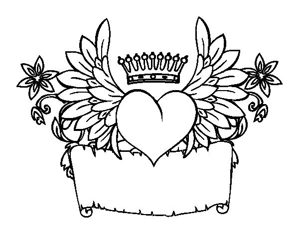Dibujo de Mensaje con corazón para Colorear - Dibujos.net