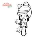 Dibujo De Ninas Y Unicornio Kawaii Para Colorear Dibujos Net